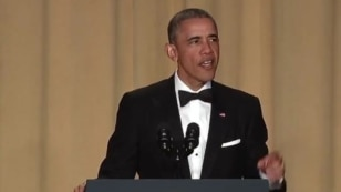 President Barack Obama cracked jokes at fellow politicians, the press and himself at the annual White House Correspondents' Dinner at the Washington Hilton in Washington, April 30, 2016.