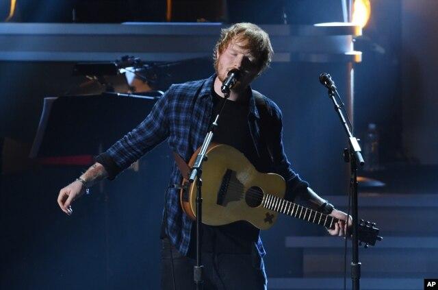 Ed Sheeran performs at
