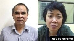 Ông Cao Duy Hải và bà Phạm Thị Phương Anh. Photo: Bộ Công An