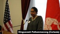 ທ່ານນາງ ດຣ. Sue Gunawardena Vaughn ນັກເຄຶ່ອນໄຫວ ສິດທິມະນຸດ ທີ່ນະຄອນຫລວງ ວໍຊິງຕັນ ດີ.ຊີ