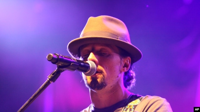 Jason Mraz attends The Star 94 Jingle Jam at The Arena at Gwinnett Center, Dec. 13, 2012, in Atlanta.