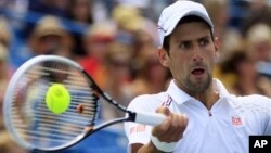Novak Djokovic from Serbia at Western & Southern Open in Cincinnati