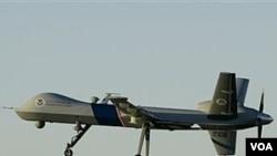 Pesawat tak berawak AS beroperasi di perbatasan Afghanistan-Pakistan.