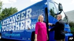 2016年7月29日民主党总统候选人希拉里·克林顿到达宾州进行竞选活动。