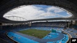 Vue générale du stade olympique de Rio, au Brésil, le samedi 14 mai 2016. (AP Photo / Felipe Dana)