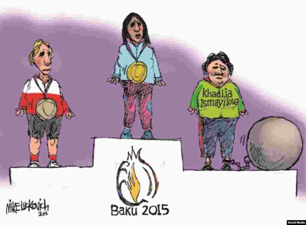 Bakı 2015 Olimpiya Oyunlarının qalibləri. (Mike Lukovich)