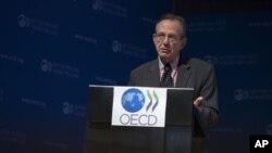 OECD baş ekonomisti Pier Carlo Padoan raporu açıklarken