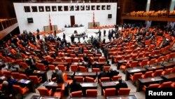 Suasana ruang sidang parlemen Turki di Ankara (Foto: dok).