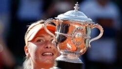 တင္းနစ္အားကစားမယ္ Sharapova တားျမစ္ေဆးသုံးစြဲမႈေၾကာင့္ ၂ ႏွစ္အပိတ္ခံရ