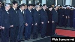 Các lãnh đạo và cựu lãnh đạo Việt Nam tại lễ tang ông Lê Đức Anh, 3/5/2019. Photo Đảng bộ Tp. HCM