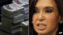 Según el Grupo Clarín, la intención de la presidenta Cristina Fernández es silenciar a los medios de prensa críticos.