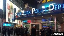 Policija na Tajms skveru u Njujorku