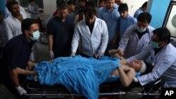 Povređeni u najnovijem samoubilačkom napadu u Kabulu, 15. avgist 2018.