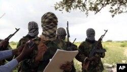 Kundi la wanamgambo wa Alshabab Somalia.