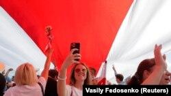 На фото: фрагмент заходів білоруської опозиції