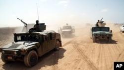 예멘 남부 샤브와주에서 알카에다 소탕 작전 벌이는 예멘 정부군. (자료사진)