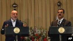 وزیراعظم گیلانی نے افغان صدر کے ہمراہ مشترکہ پریس کانفرنس کی