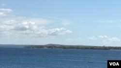 Vista do mar Pemba, Cabo Delgado, Moçambique