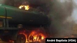 Un camion a explosé près de Tete, le 17 novembre 2016 au Mozambique.