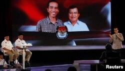 انڈونیشیا کے صدارتی امیدوارو ٹی وی پروگرام پر
