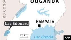 Carte de l'Ouganda
