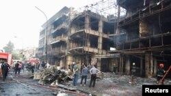 کرادہ کے علاقے میں دھماکے سے تباہی کا منظر