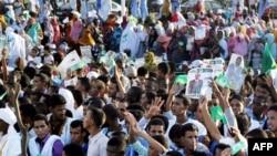 Des militants de Tewassoul à Nouakchott, le 18 novembre 2013.
