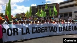 Las protestas pacíficas en Venezuela continúan pese a que las autoridades reiteran que no las permitirán.