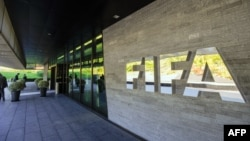 FILE - The FIFA (International Federation of Association Football) organization's headquarters in Zurich.