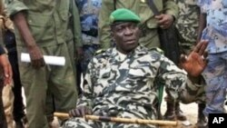 Captain Amadou Haya Sanogo in a military camp in Bamako, Mali, March 22, 2012.