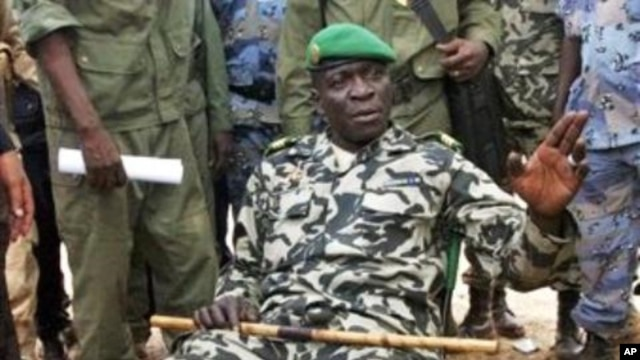 Captain Amadou Haya Sanogo in a military camp in Bamako, Mali, March 22, 2012.