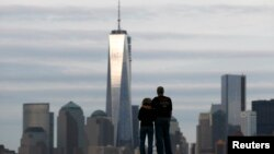A view of One World Trade Center in New York City.