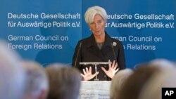 ທ່ານນາງ Christine Lagarde, ຫົວໜ້າກອງທຶນສາກົນ ຫລື IMF, ວັນທີ 27 ກຸມພາ 2012.