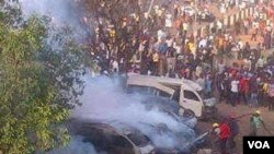 Mutane a inda Bom ya fashe a tashar motar Nyanya Abuja, Najeriya.