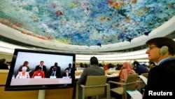 联合国人权理事会会场资料照