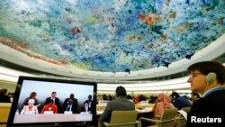 عکس آرشیوی از نشست شورای حقوق بشر سازمان ملل متحد در شهر ژنو سوئیس - ۲۰ خرداد ۱۳۹۳