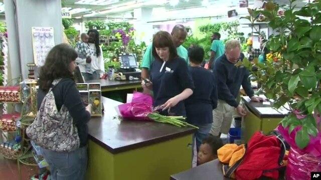 Scene inside a flower shop in Washington, DC
