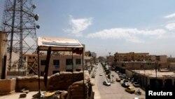 Vojna baza u provinciji Raga u Siriji koju su zauzeli borci Slobodne sirijske armije.