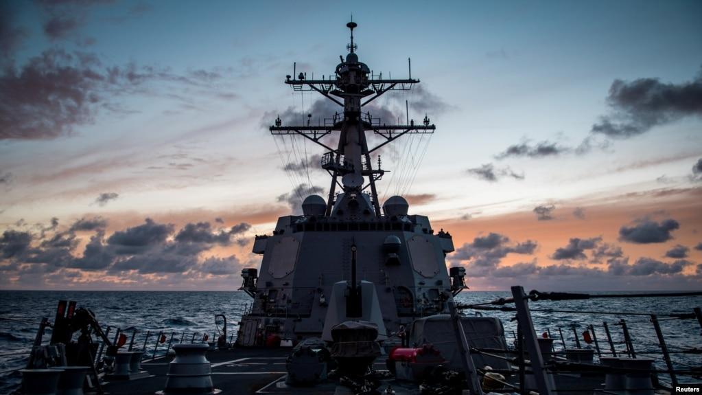 參加2018環太平洋軍演的一艘美國海軍驅逐艦