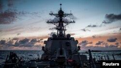 参加2018环太平洋军演的一艘美国海军驱逐舰