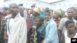 Wakimbizi kutoka Congo wakiwa katika kambi ya Nkamira Transit nchini Rwanda