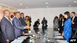 Ambasaderi w'Amerika muri ONU Nikki Haley mu nama n'abategetsi ba RDC