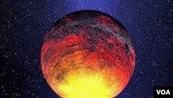 Ilutrasi gambar salah satu planet yang berhasil ditemukan oleh teleskop Kepler, planet yang diberi nama Kepler-10b, dengan ukuran 1,4 kali ukuran Bumi , namun dengan temperatur lebih dari 2.500 derajat Fahrenheit (atau lebih dari 1.371 Celcius).