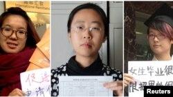中国当局逮捕的5位反性骚扰活动人士:25岁的李婷婷、26岁的韦婷婷、32岁的王曼、25岁的郑楚然和30岁的武嵘嵘