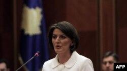 Kosova Cumhurbaşkanı Atifete Yahyaga