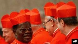 Le cardinal Laurent Monsengwo, archévêque de Kinshasa en RDC le 10 novembre 2010 en visite au Vatican.