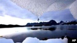 北極冰川融化(資料圖片)