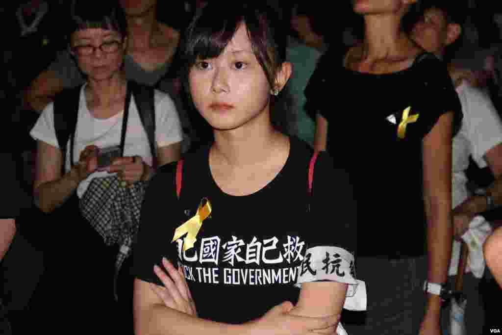 和平佔中運動舉行啟動佔中運動公民抗命集會(美國之音海彥拍攝)