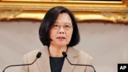 台灣總統蔡英文資料照。