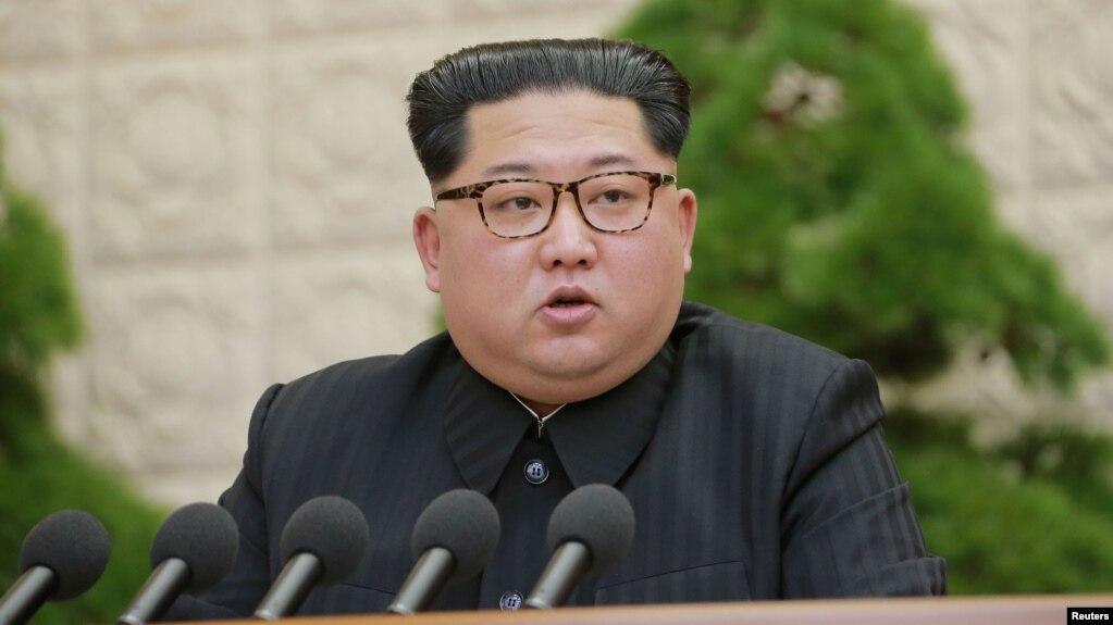 朝鮮領導人金正恩在朝鮮勞動黨會議上講話(2018年4月21日)